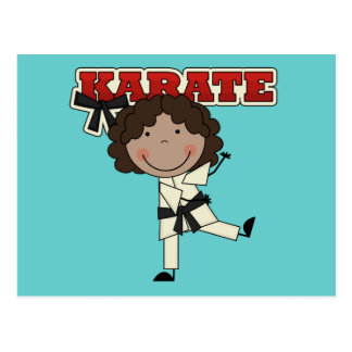 KARATE - African  American Girl T-shirts and Gifts Postcard