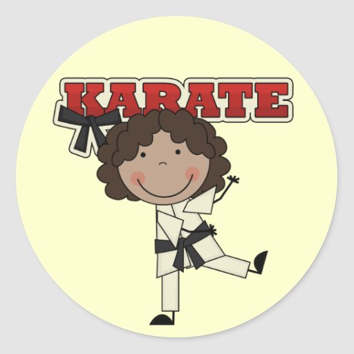 KARATE - African  American Girl T-shirts and Gifts Stickers