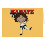 Karate - African American Girl Tshirts and Gifts Greeting Cards