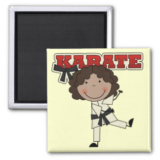Karate - African American Girl Tshirts and Gifts Magnet