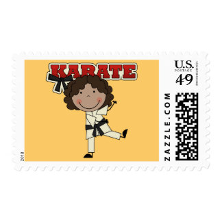 Karate - African American Girl Tshirts and Gifts Postage Stamp