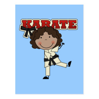 Karate - African American Girl Tshirts and Gifts Postcard