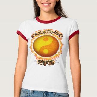 Karate-afronte la camiseta del campanero de W Playeras