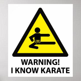 Karate amonestador póster