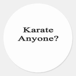 Karate Anyone Classic Round Sticker