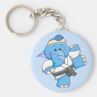 Karate azul del elefante de Lil Llaveros