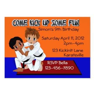 "Karate Birthday 5"" X 7"" Invitation Card"