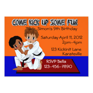 Karate Birthday Card