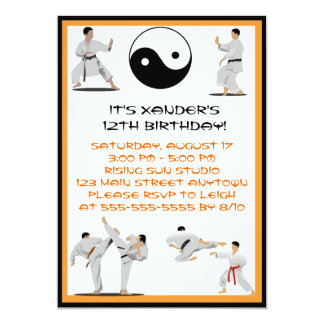 Karate Birthday Invitation