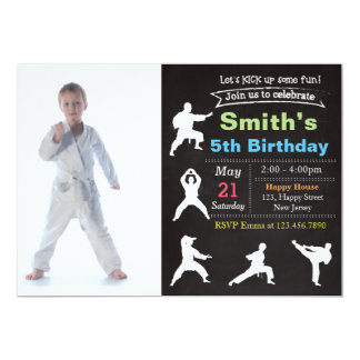 Karate invitations announcements zazzle karate birthday invitation stopboris Gallery