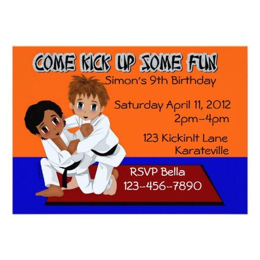 Karate Birthday Personalized Invitations