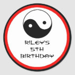Karate Birthday Party Favor Labels Classic Round Sticker