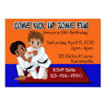 Karate Birthday Personalized Invitations
