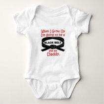 KARATE Black Belt Like My Daddy 1 Baby Bodysuit