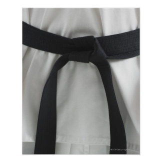 Karate black belt print