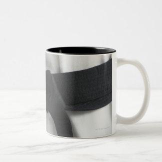 Karate black belt Two-Tone coffee mug