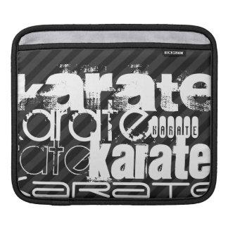 Karate; Black & Dark Gray Stripes iPad Sleeves