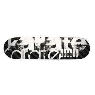 Karate; Black & Dark Gray Stripes Skateboard Deck