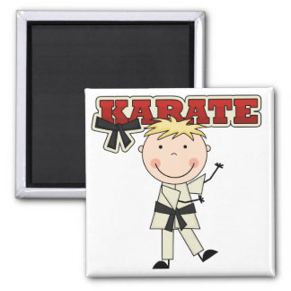 KARATE - Blond Boy Tshirts and Gifts 2 Inch Square Magnet