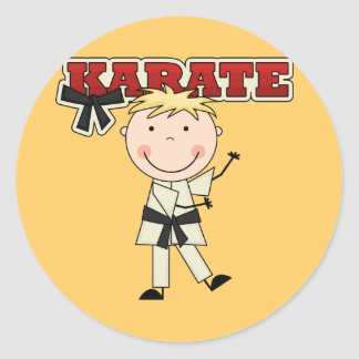 KARATE - Blond Boy Tshirts and Gifts Classic Round Sticker
