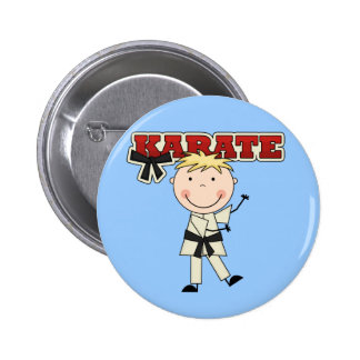 KARATE - Blond Boy Tshirts and Gifts Pinback Button