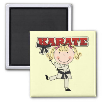 KARATE - Blond Girl T-shirts and Gifts Magnets