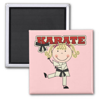 KARATE - Blond Girl T-shirts and Gifts Refrigerator Magnet