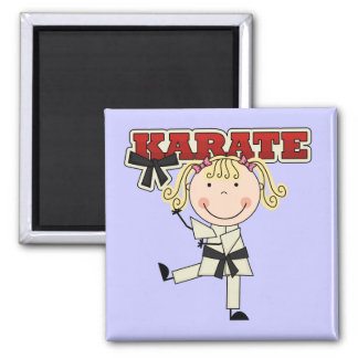 KARATE - Blond Girl T-shirts and Gifts Refrigerator Magnets