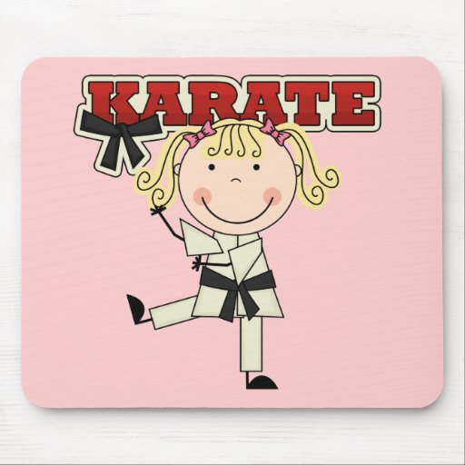 KARATE - Blond Girl T-shirts and Gifts Mouse Pad