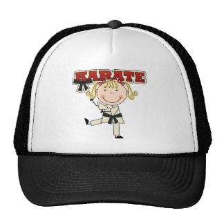 KARATE - Blond Girl T-shirts and Gifts Trucker Hat