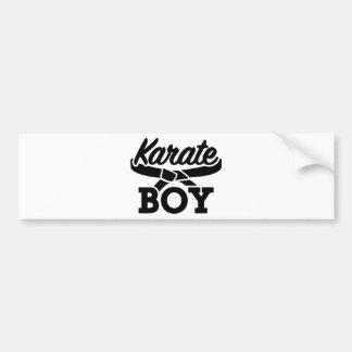 Karate boy bumper sticker