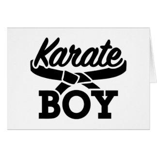Karate boy card