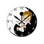 Karate Boy Clock