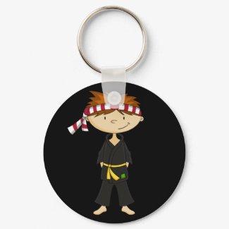 Karate Boy Keychain keychain