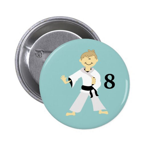 KARATE BOY Personalized Birthday Button