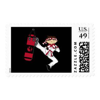 Karate Boy Postage Stamp