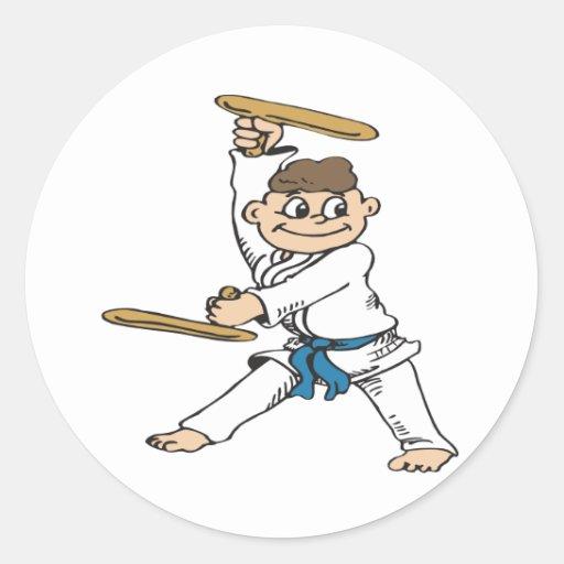 Karate-Boy Round Sticker