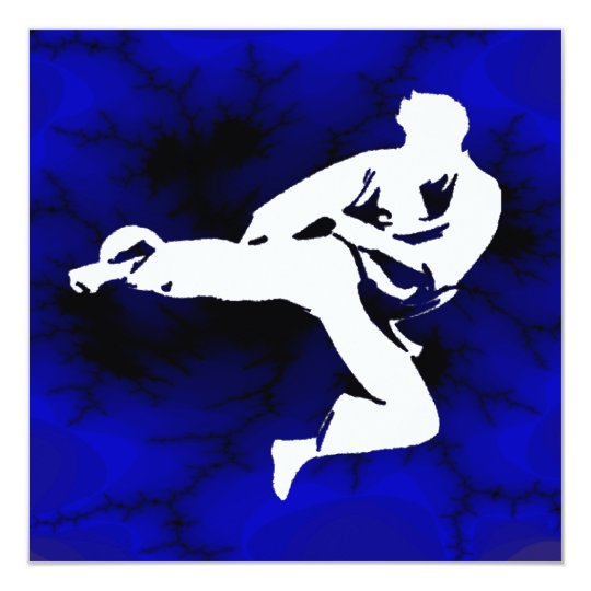 Karate Boys Bday Party Card