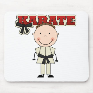 KARATE - Brunette Boy T-shirts and Gifts Mouse Pad