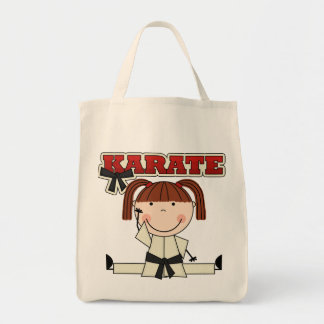 KARATE - Brunette Girl T-shirts and Gifts Grocery Tote Bag