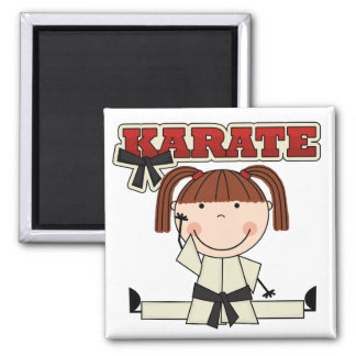 KARATE - Brunette Girl T-shirts and Gifts Magnet