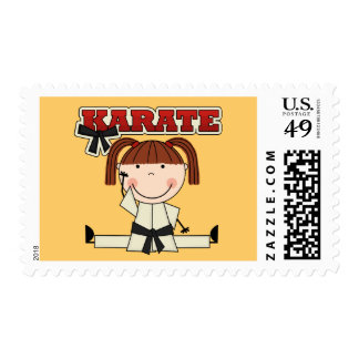KARATE - Brunette Girl T-shirts and Gifts Postage