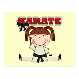 KARATE - Brunette Girl T-shirts and Gifts Postcard