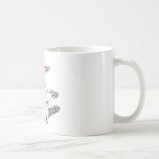 Karate-Bunny Classic White Coffee Mug