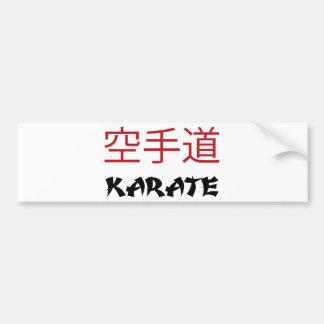 Karate Pegatina De Parachoque