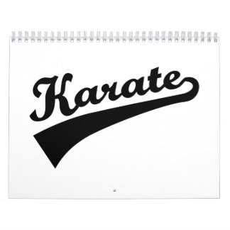 Karate Calendar
