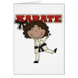 Karate - camisetas afroamericanas y regalos del tarjeta de felicitación