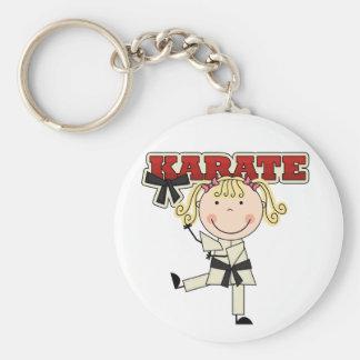 KARATE - camisetas y regalos rubios del chica Llavero