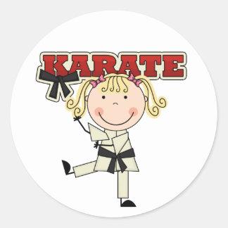 KARATE - camisetas y regalos rubios del chica Pegatina Redonda
