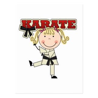 KARATE - camisetas y regalos rubios del chica Tarjeta Postal